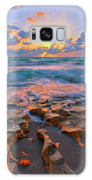 Sunrise Over Carlin Park In Jupiter Florida Galaxy Case by Justin Kelefas