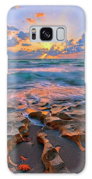 Sunrise Over Carlin Park In Jupiter Florida Galaxy Case by Justin Kelefas