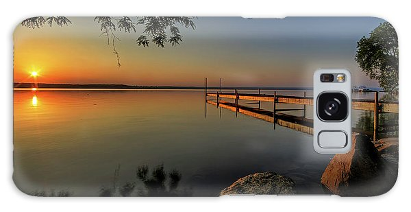 Sunrise Over Cayuga Lake Galaxy Case by Everet Regal