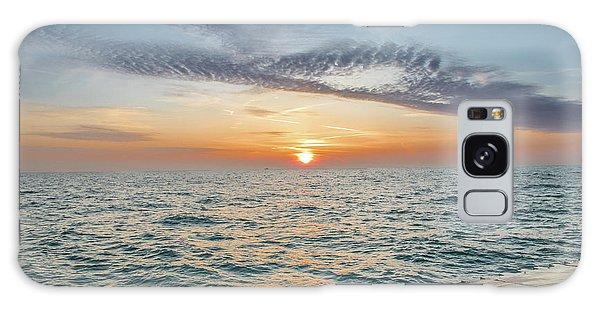 Sunrise Over Lake Michigan Galaxy Case