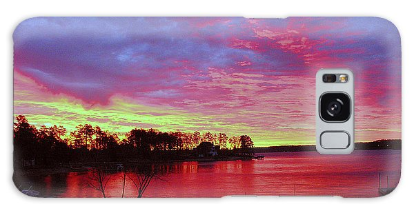 Sunrise Over Lake Murray Galaxy Case