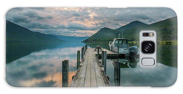 Sunrise Over Lake Rotoroa Galaxy Case