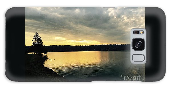 Sunrise Over Lake Washington Galaxy Case