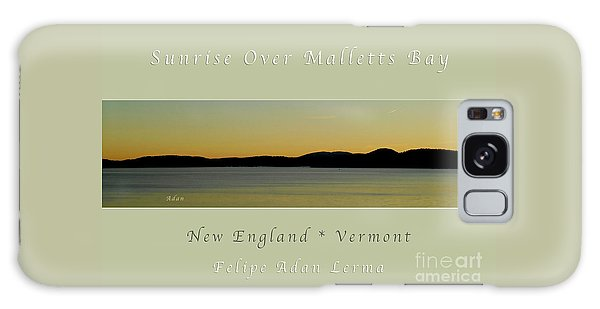 Sunrise Over Malletts Bay Greeting Card And Poster - Six V4 Galaxy Case