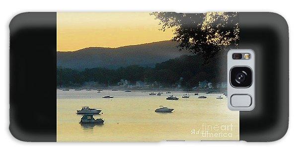 Sunrise Over Malletts Bay Panorama - Nine V2 Detail Galaxy Case by Felipe Adan Lerma
