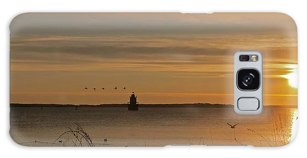 Sunrise Over New Bedford Galaxy Case