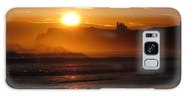 Sunrise Over Sandsend Beach Galaxy Case