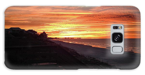 Sunrise Over Santa Rosa Beach Galaxy Case