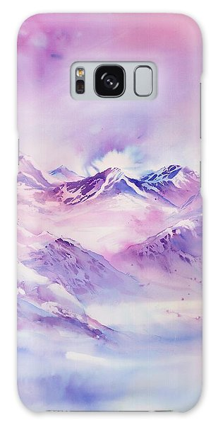 Swiss Mountains Early Morning Galaxy Case