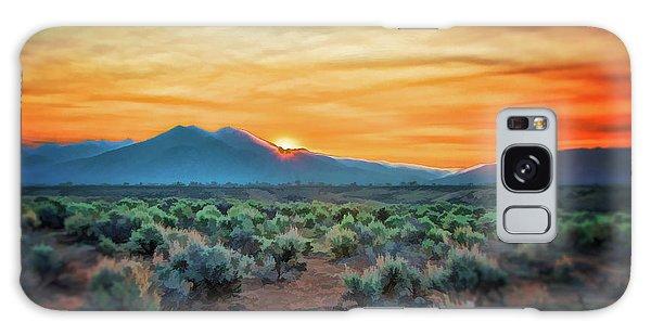 Sunrise Over Taos II Galaxy Case