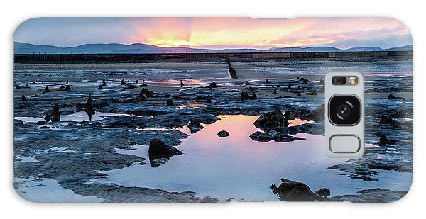 Sunrise Over The Bronze Age Sunken Forest At Borth On The West Wales Coast Uk Galaxy Case