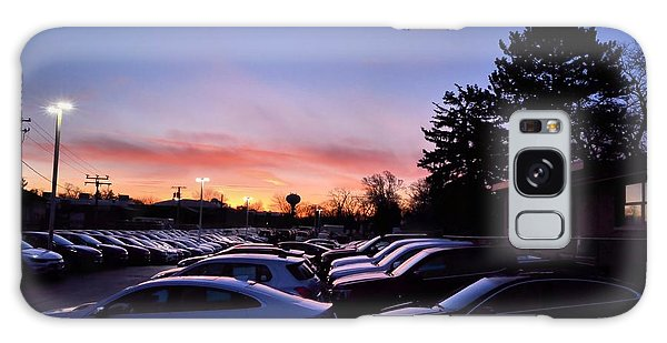 Sunrise Over The Car Lot Galaxy Case