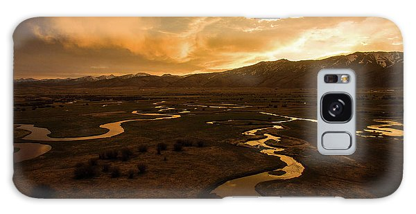 Sunrise Over Winding Rivers Galaxy Case
