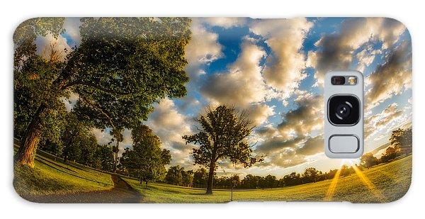 Sunrise Path At Meadows Edge Galaxy Case by Chris Bordeleau