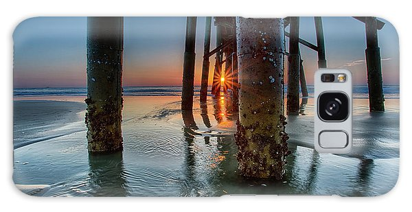 Sunrise Pier Galaxy Case