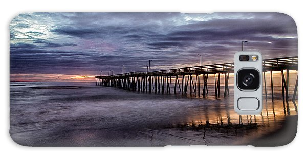 Sunrise Pier Galaxy Case