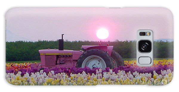 Sunrise Pink Greets John Deere Tractor Galaxy Case by Susan Garren