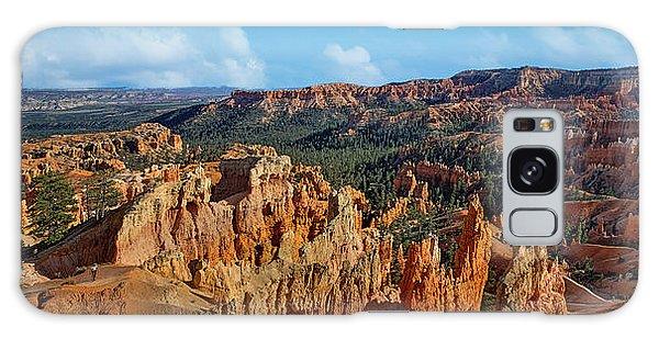 Desert View Tower Galaxy Case - Sunrise Point - Panorama - Bryce - Utah by Nikolyn McDonald