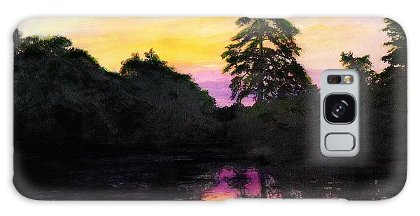 Sunrise Pond Maryland Landscape Original Fine Art Painting Galaxy Case