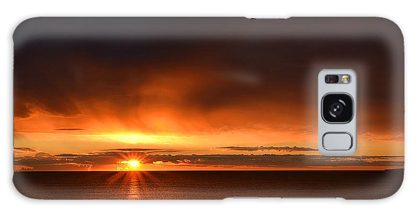 Sunrise Rays Galaxy Case by Nancy Landry