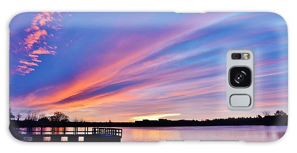 Sunrise Reflecting Galaxy Case by Diane Alexander