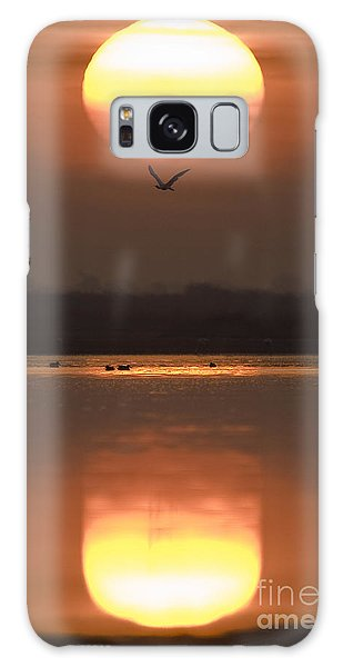 Sunrise Reflection Galaxy Case