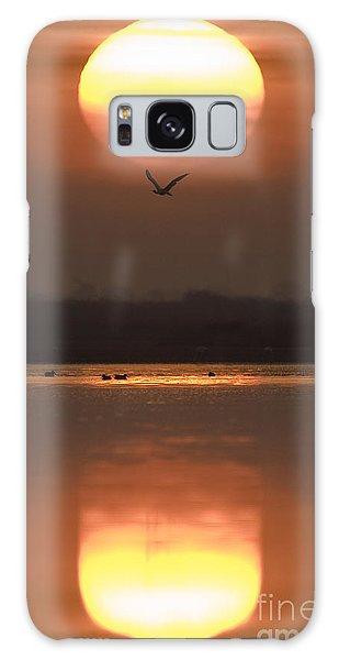 Sunrise Reflection Galaxy Case
