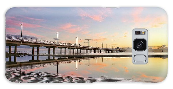 Sunrise Reflections At The Shorncliffe Pier Galaxy Case