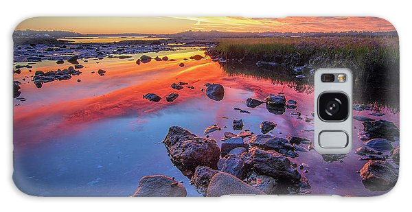 Sunrise Reflections In Harpswell Galaxy Case