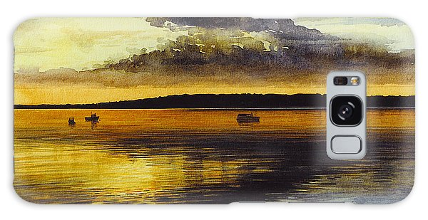 Sunrise Rockland Harbor Galaxy Case