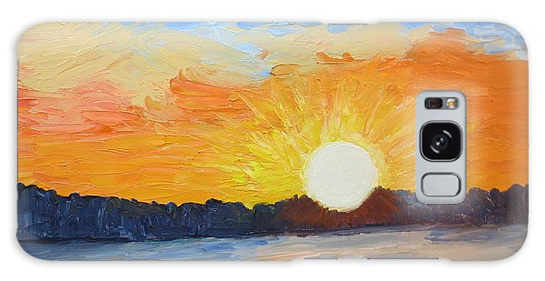 Sunrise At Pine Point Galaxy Case