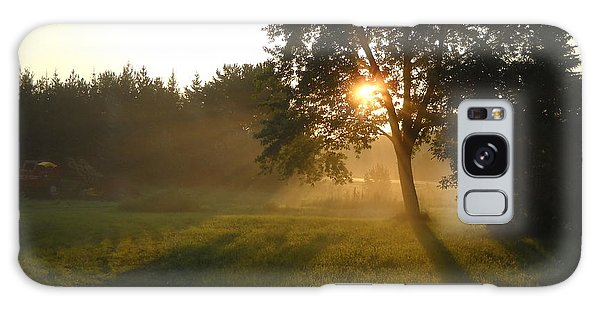 Sunrise Shadows Through Fog Galaxy Case by Kent Lorentzen