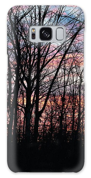 Sunrise Silhouette And Light Galaxy Case