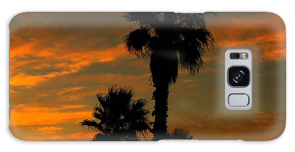 Sunrise Silhouettes Galaxy Case by Janice Westerberg