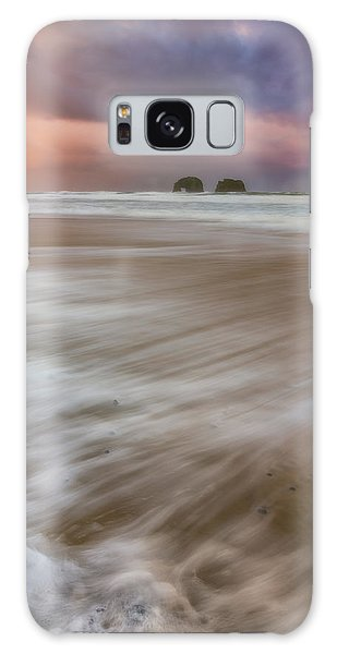 Galaxy Case featuring the photograph Sunrise Storm At Twin Rocks by Darren White