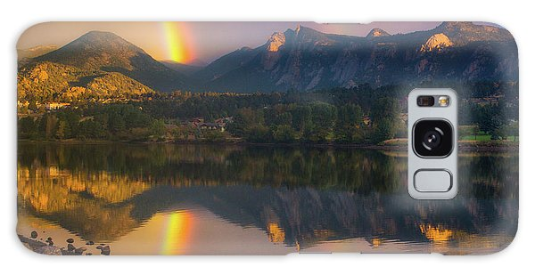 Sunrise Summer Rainbow In Colorado Galaxy Case by John De Bord