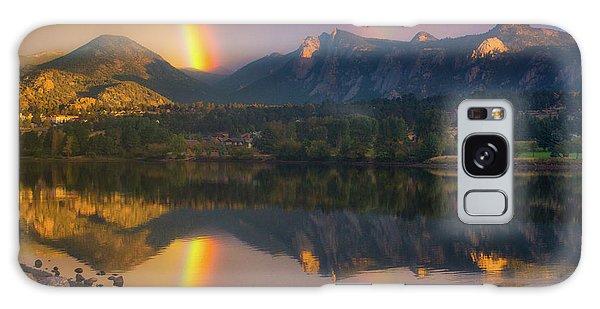 Sunrise Summer Rainbow In Colorado Galaxy Case