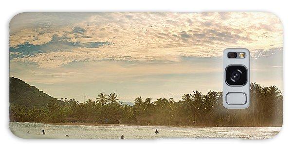 Sunrise Surfers Galaxy Case