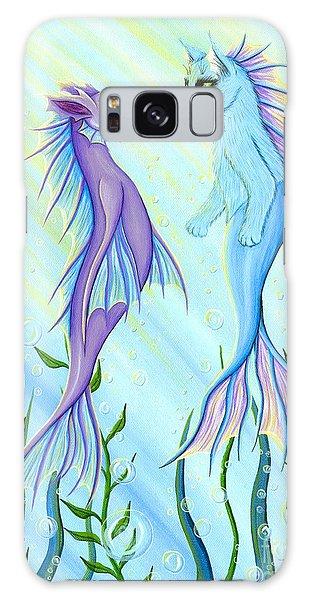Sunrise Swim - Sea Dragon Mermaid Cat Galaxy Case