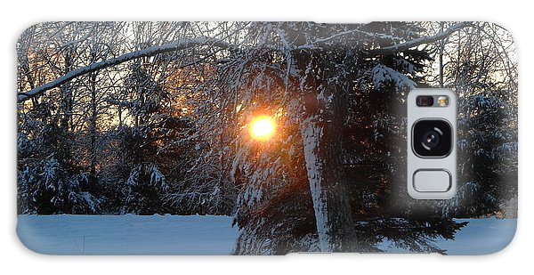 Sunrise Through Branches Galaxy Case by Kent Lorentzen