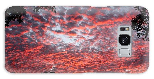 Sunrise Through The Trees Galaxy Case