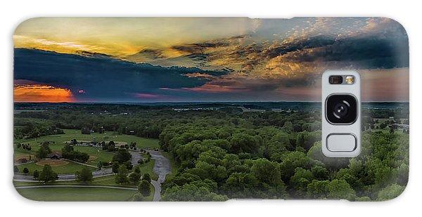 Sunrise Thru The Clouds Galaxy Case