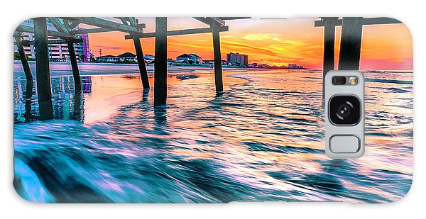 Sunrise Under Cherry Grove Pier Galaxy Case