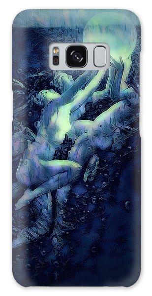 Galaxy Case featuring the digital art Sunrise Water Nymphs by Pennie McCracken