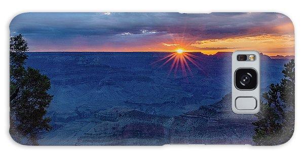 Desert View Tower Galaxy Case - Sunrise - Yavapai Point - Grand Canyon Arizona by Jon Berghoff
