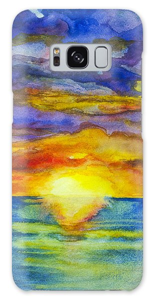 Galaxy Case featuring the painting Sunset 1 by Suzette Kallen
