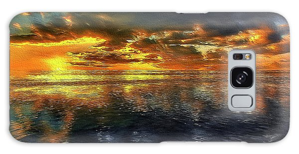 Sunset #95 Or Sunset Over The Atlantic. Galaxy Case