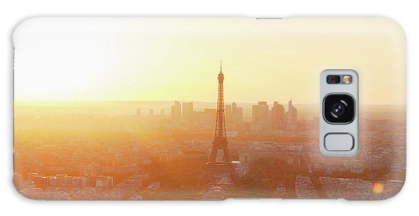 Sunset Above Paris Galaxy Case
