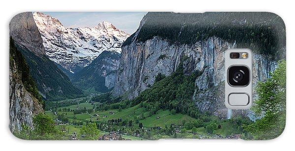 Sunset Above The Lauterbrunnen Valley Galaxy Case
