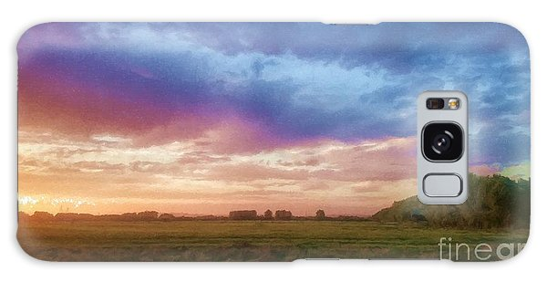 Sunset Across Cheshire Galaxy Case
